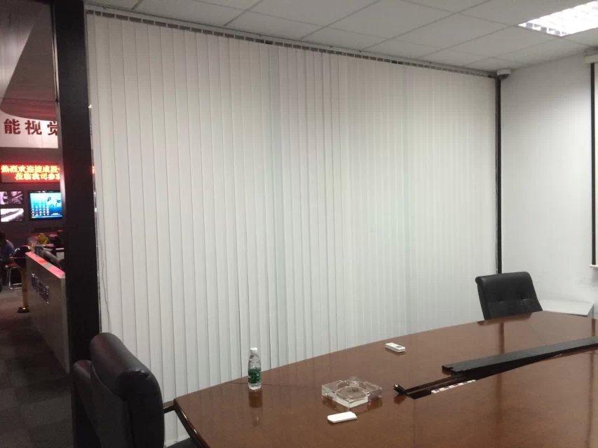 深圳办公垂直帘|竖条百叶窗帘定做