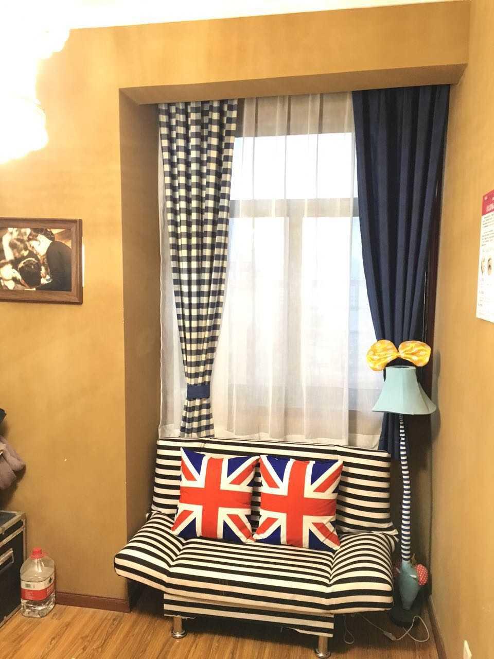 美式乡村风格窗帘酒店小窗户遮光窗帘