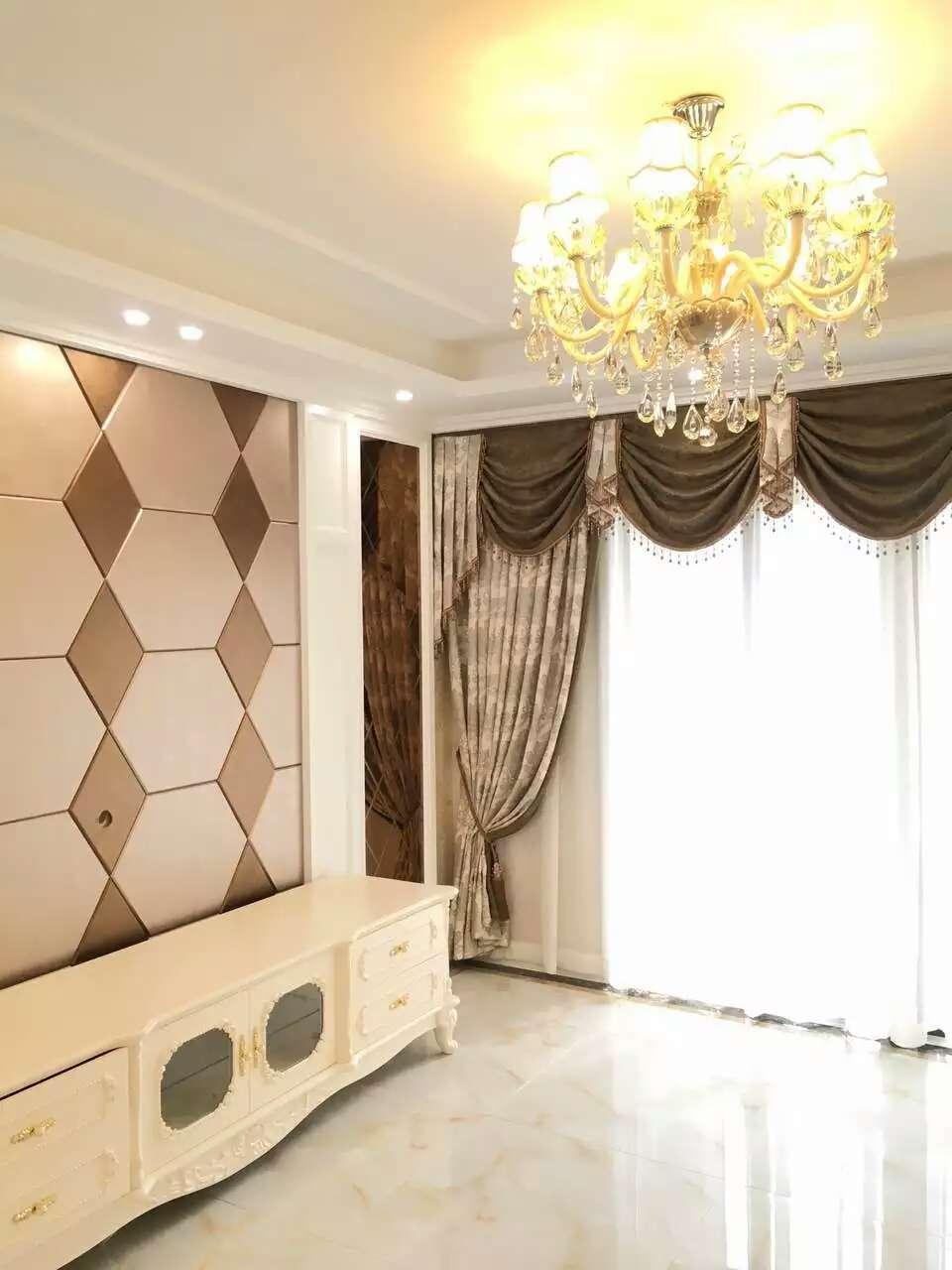 中式风格殿堂窗帘 壮丽华贵别墅窗帘