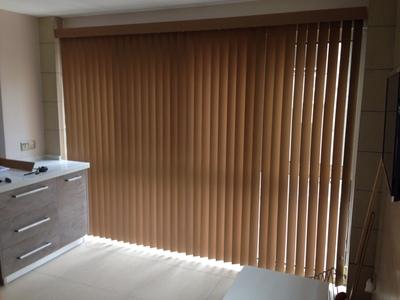 防水木纹垂直帘 铝合金加厚导轨百叶窗帘
