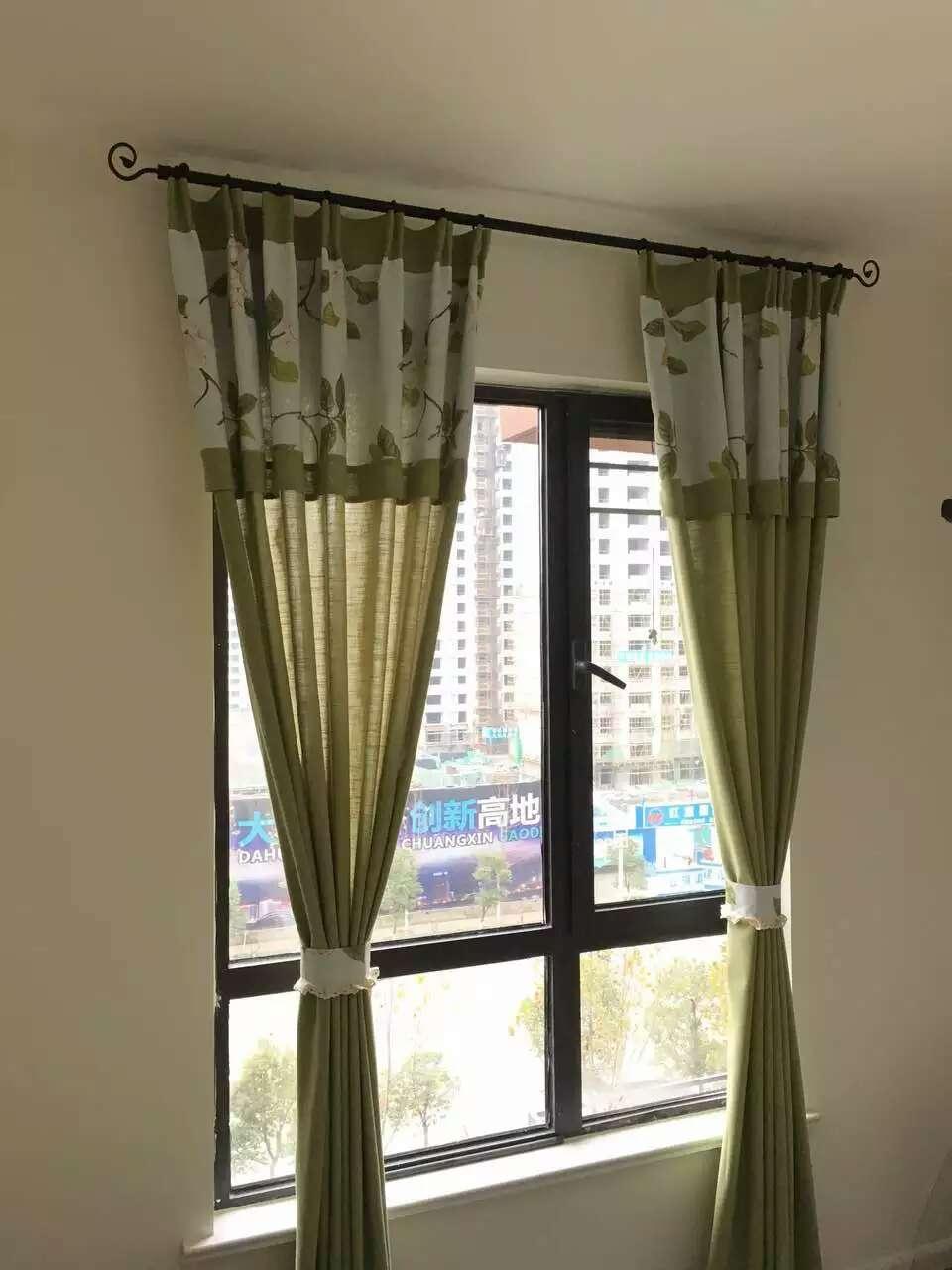汇海广场布艺窗帘定做