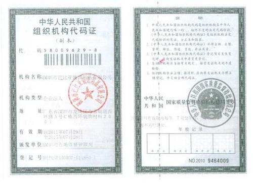 宜家窗帘组织机构代码证