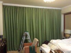 欧式现代家庭遮光布帘|麻布窗帘定做|亚麻简约家居帘