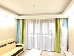 前海西苑小区客厅窗帘设计 三色窗帘拼接