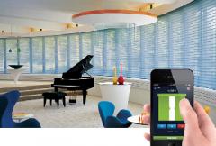 智能电动卷帘 可用手机操控的窗帘